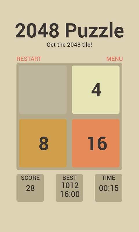 2048 Premium puzlle game screenshot 1