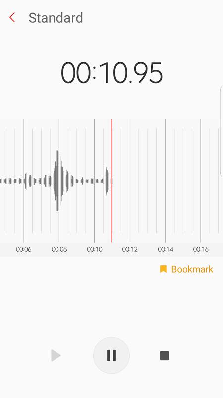 Samsung Voice Recorder screenshot 1