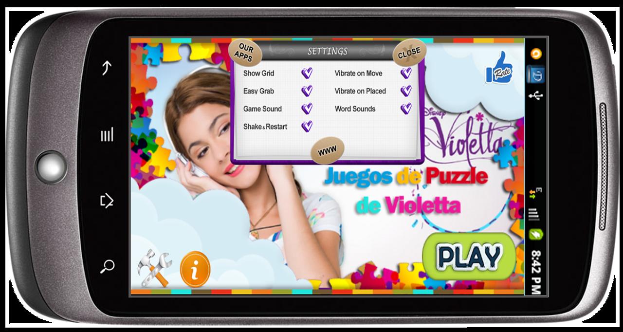 Violetta Puzzle screenshot 2