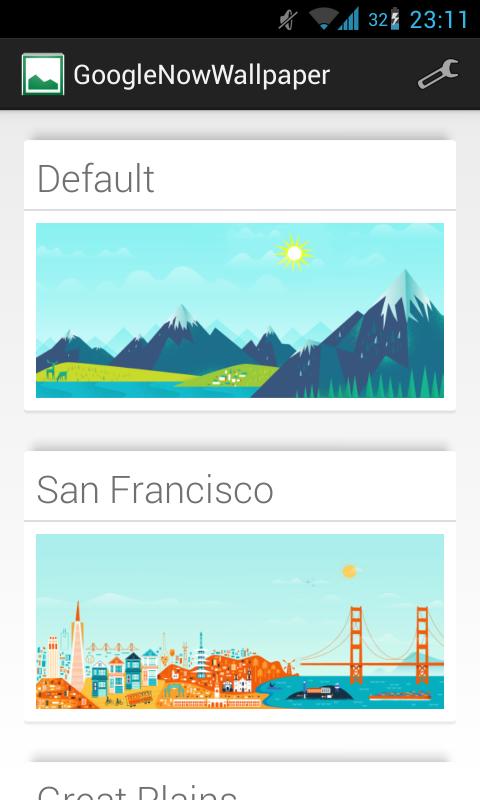 GoogleNowWallpaper screenshot 1