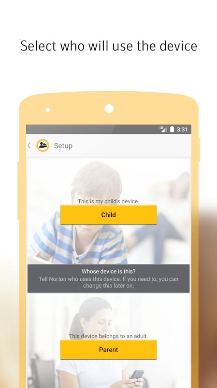 Norton Family parental control screenshot 1