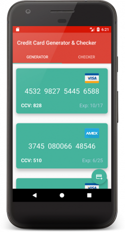 Credit Card Generator and Checker 6 0 Download APK for