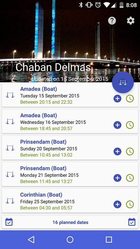Levées du pont Chaban Delmas screenshot 1