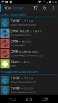 ROM Installer Screenshot