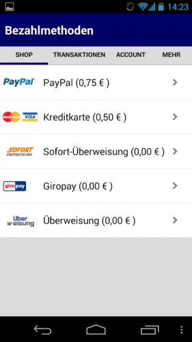Paypal Account Aufladen