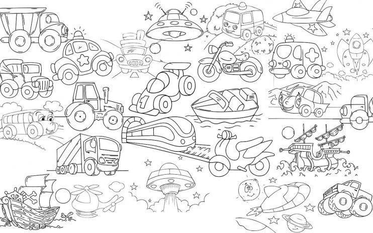 980 Koleksi Gambar Mobil Untuk Mewarnai Anak HD