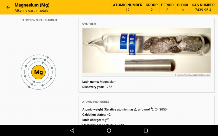 Periodic table 2018 chemistry in your pocket 630 download apk periodic table 2018 chemistry in your pocket screenshot 9 urtaz Choice Image