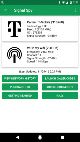 Signal Spy - Monitor Signal Strength & Data Usage 1 9 9 9 Download