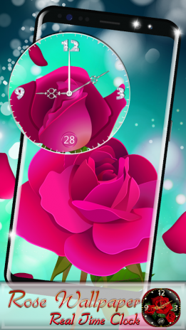 Rose Wallpaper Real Time Clock 10 Download Apk For Android