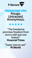 FREEDOME VPN Unlimited anonymous Wifi Security Screen