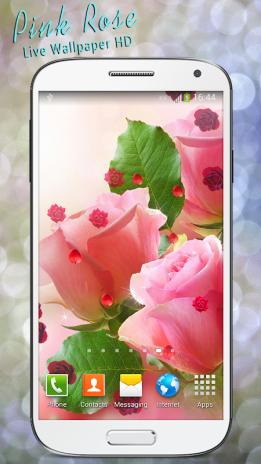 Pink Rose Live Wallpaper Hd Screenshot 1