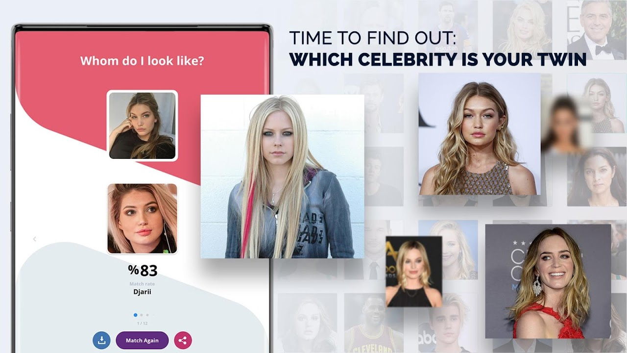 Your who celebrity match is Who's The