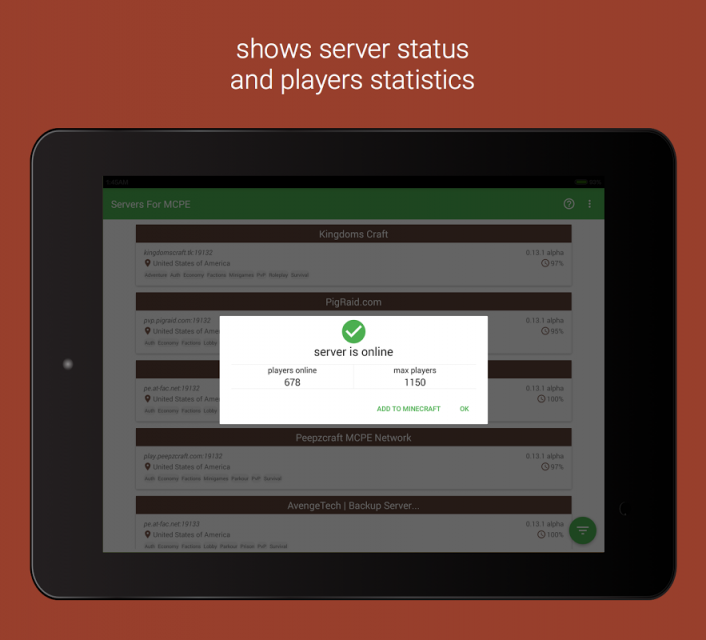 Mcpe android servers