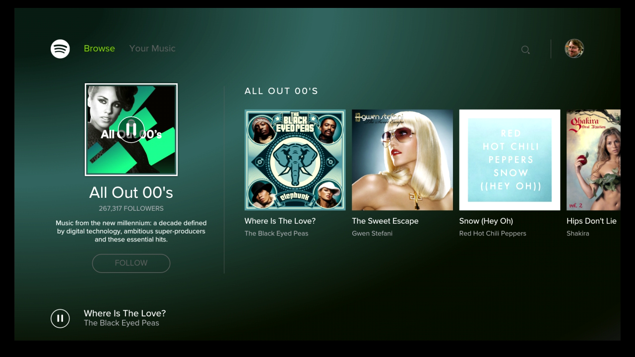 Spotify Music para Android TV screenshot 1