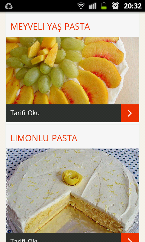 Pasta tarifleri screenshot 2