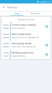 Skype for Business for Android screenshot 2