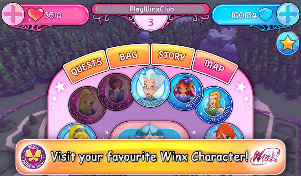 Winx Fairy School Lite screenshot 1