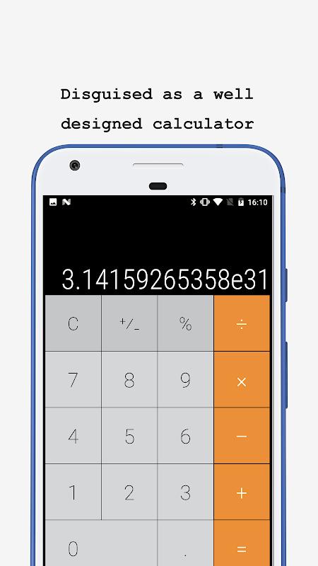 Calculator - Vault for photo (hidden your photos) screenshot 1