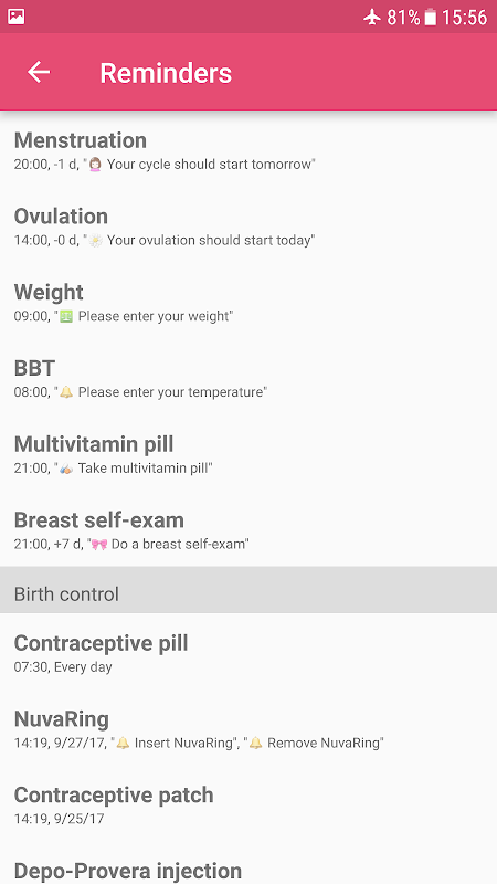 WomanLog Period Tracker & Calendar screenshot 8