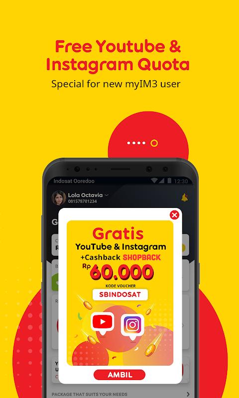 myIM3 - Cek Kuota & Beli Paket Internet screenshot 2