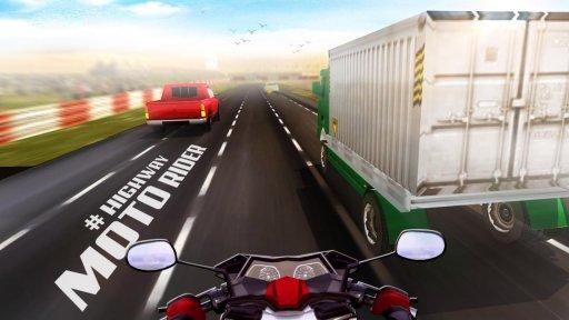 Highway Moto Rider - Traffic Race screenshot 2