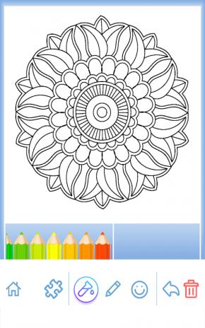 Flower Mandala Coloring Book Screenshot 19