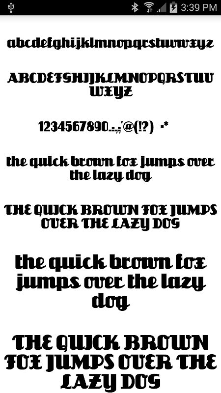 Fonts for FlipFont 50 #1 screenshot 1