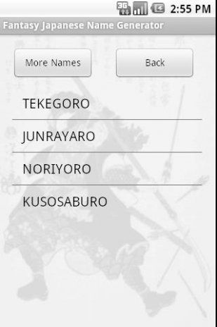 FRPG Japanese Name Generator 21 1 0 Download APK for Android
