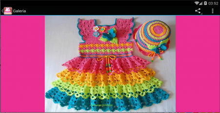 vestidos tejidos de bebe screenshot 4
