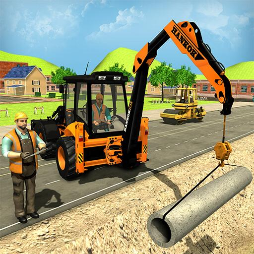 City Road Builder Construction Excavator Simulator