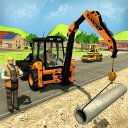simulador de escavadeira construtor de estrada