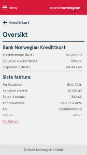 Bank Norwegian screenshot 2