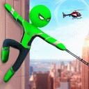Stickman Ice Hero Crime City - Rope Hero