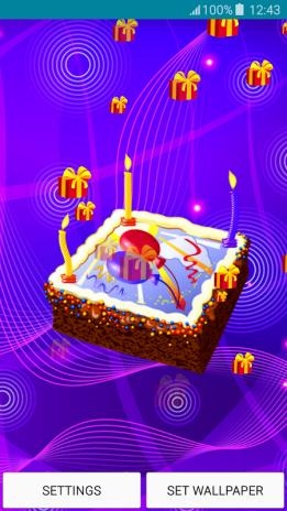 Live Wallpapers Happy Birthday Screenshot 6