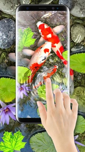 Ikan Di Layar Tema 3d Ikan Koi Latar Belakang 1 3 Download Apk Android Aptoide