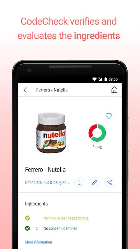 CodeCheck: Food & Cosmetics Scanner screenshot 2