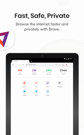 Brave Privacy Browser: Fast, free and safe browser 1 3 1