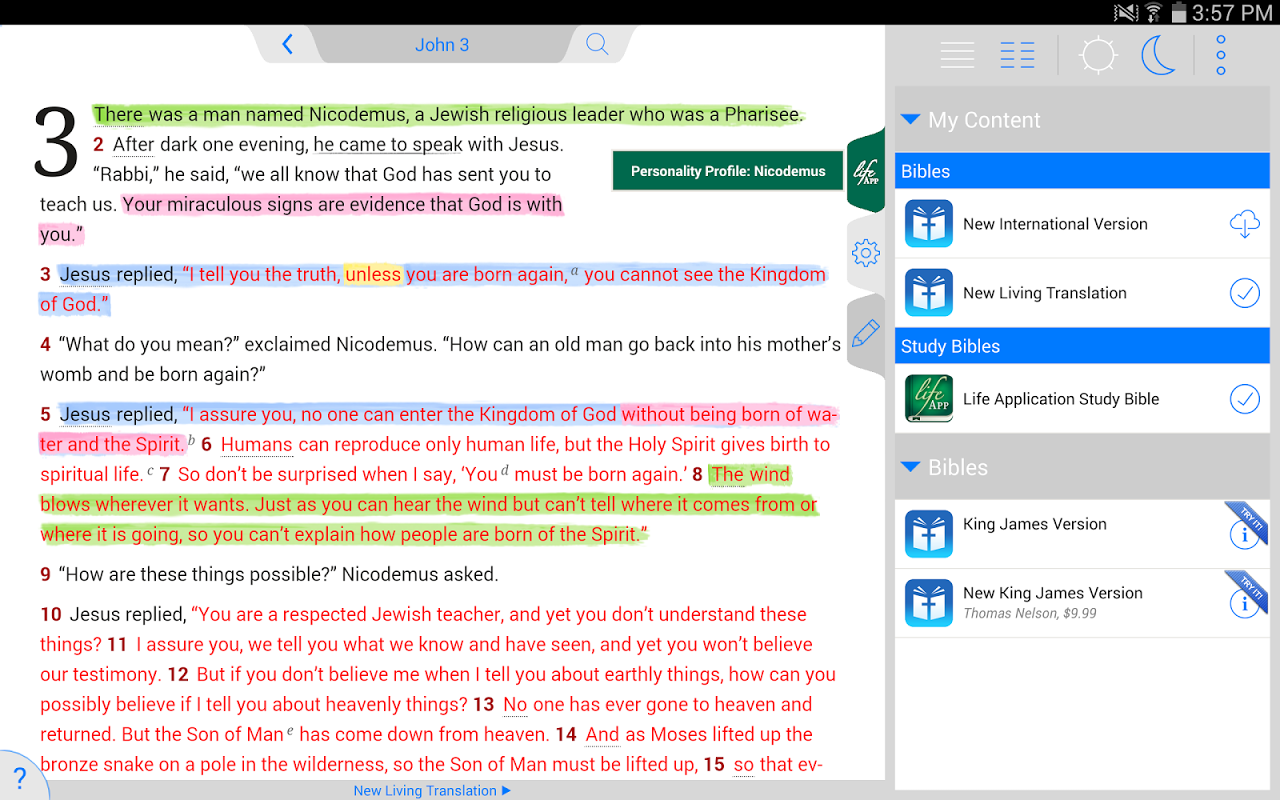 Life Application Study Bible screenshot 1