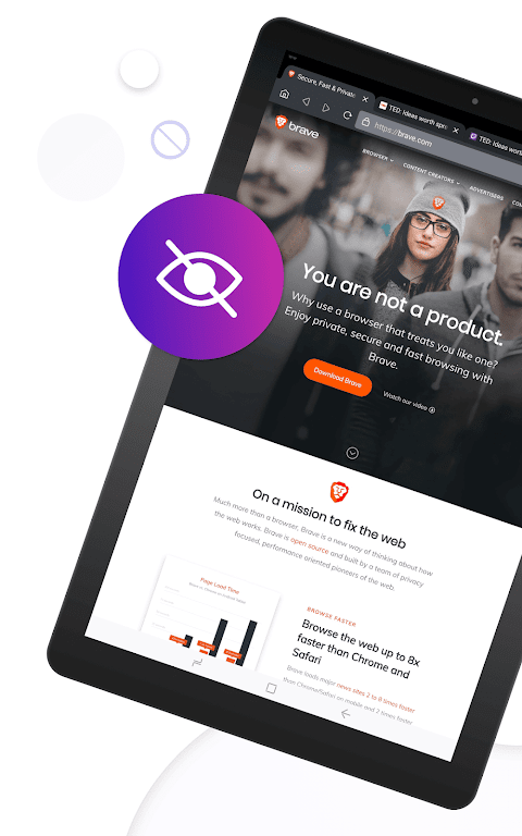 Brave Privacy Browser: Fast, free and safe browser screenshot 1