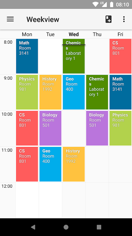 Timetable screenshot 1