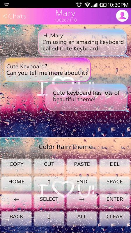 COLOR RAIN Emoji Keyboard Skin screenshot 2