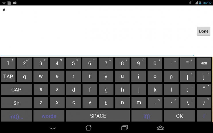 Soft Keyboard for programmers 2 0 Download APK for Android