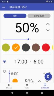 Bluelight Filter for Eye Care - Auto screen filter screenshot 7