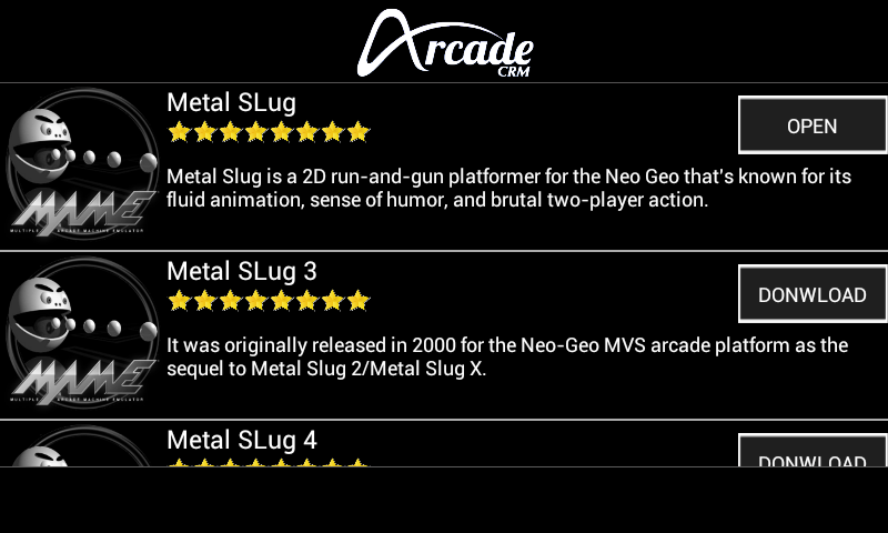 Arcade MAME - MAME4Droid Collection screenshot 2
