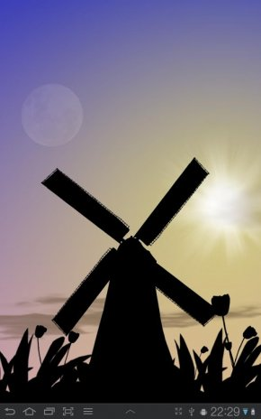 Tulip Windmill Live Wallpaper Screenshot 6