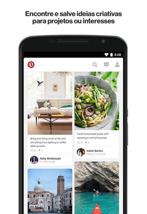 Pinterest - catálogo de ideias screenshot 1