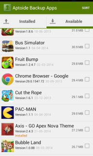 Aptoide Backup Apps screenshot 4