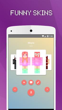 Skins Chicas Para Minecraft PE Descargar APK Para Android - Descargar skins para minecraft pe android