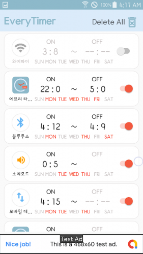 Every Timer-WiFi/Bluetooth/Sound/App auto on off screenshot 2