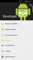 Developer Tools Screen